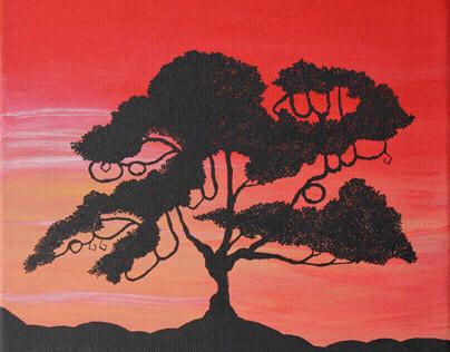 African Sunset With Bismillah