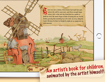 iPad Book The Bremen Town Musicians