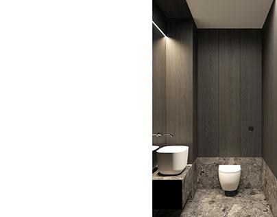"DARK LUXURY BATHROOM ""EK""Modern Apartment| interior"
