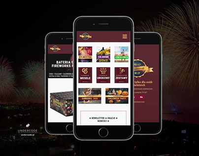Fireworks-shows online store project