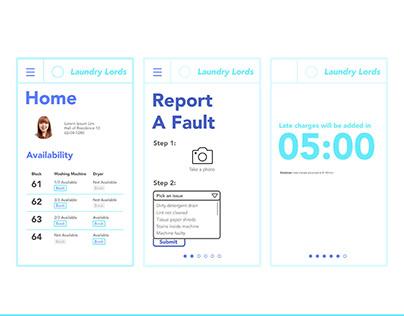 NTU REP Designathon 2018   'Laundry Lords' (UX/UI)