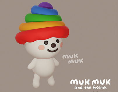 MUK MUK and the friends -3D characters-