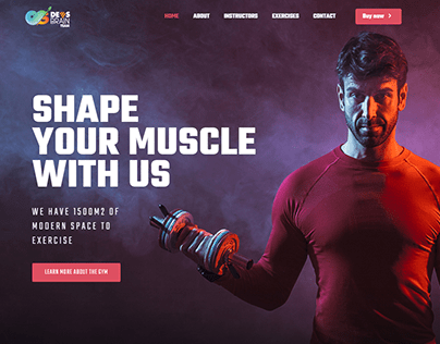Muscle Responsive WordPress Website