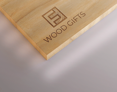 "Logo design "" WOOD GIFTS """