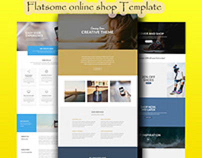 Flotsam online shop landing pages Design