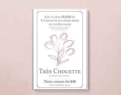 Très Chouette French Style Brunch Ad