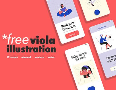 Viola FREE illustration & icon set
