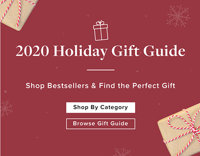 Linen Chest 2020 Holiday Gift Guide Landing Page