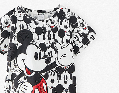 ZK'20 Mickey Sequin T-shirt