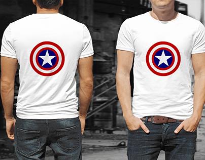 T-Shirt Design Captain America Concept