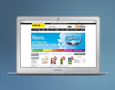 Diseño de banners web para Alpina