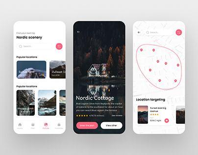 Nordic travel App UI