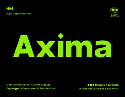 TG Axima Typeface