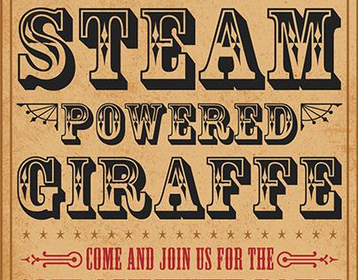 Gig Poster - Steam Powered Giraffe
