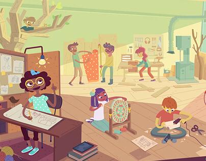 Clio background illustrations