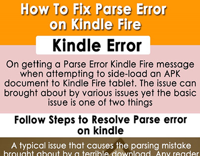How To Fix Parse Error on Kindle Fire