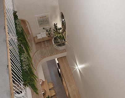 atrium structure- HG house