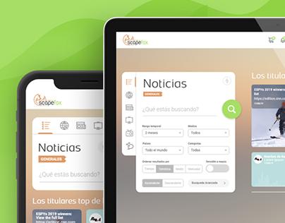 Scapefox - Recortes (Clipping) de Noticias Multimedia