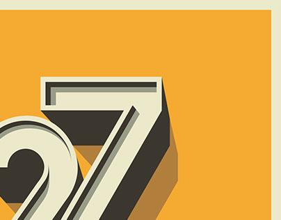 27 birthday typography