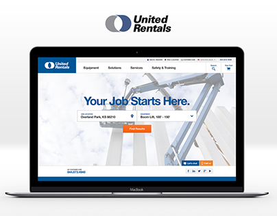 United Rentals Website Redesign