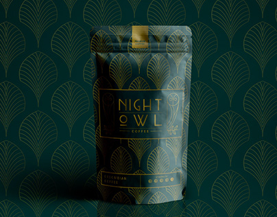 Night Owl Coffee Logo and Packaging