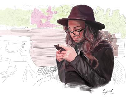Digital Portrait/ iPad Pro+Apple Pencil
