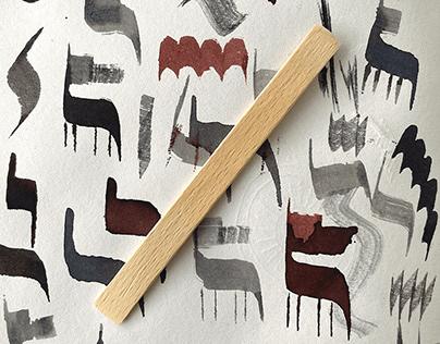 The 1p Lollipop Stick Calligraphy Pen