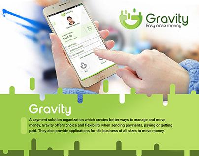 Gravity - Logo and UI design for Mobile App