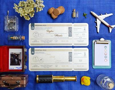 Wedding & Cocktail Pass | Wedding Invitation