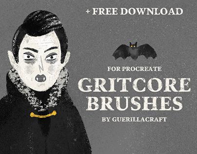 Gritcore Brushes for Procreate + FREE BRUSHES
