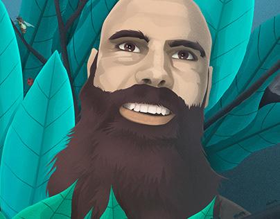 Un homme dans la nature