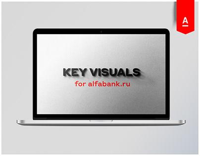 Key Visuals for Alfabank