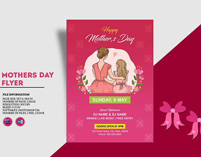 Mother's Day Party Invitation Flyer