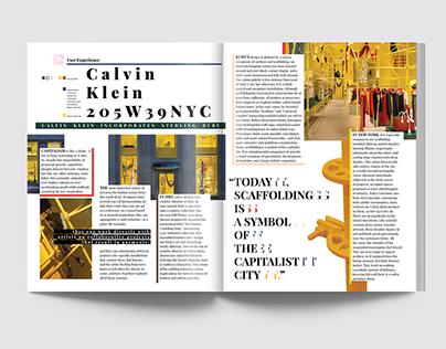 User Experience: Calvin Klein 205W39NYC Editorial