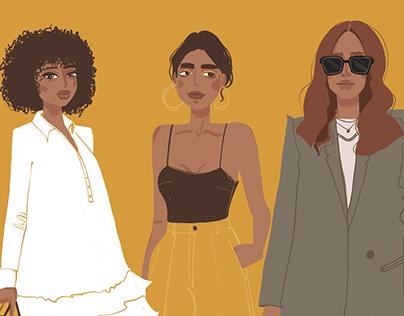 Fashion Girls Illustration