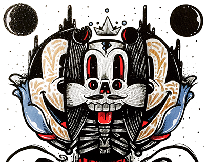 Twisted Mouse art show x PIQ