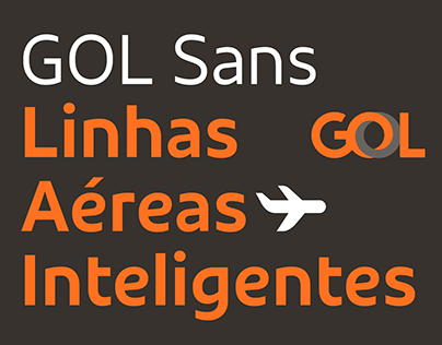 GOL Sans, on the ground and in the sky