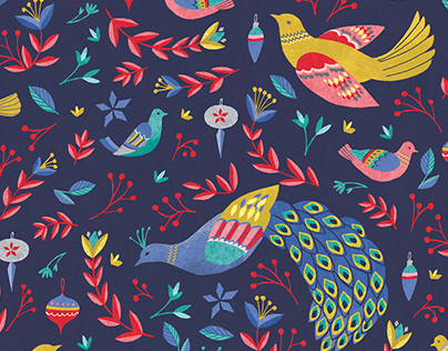 Christmas Bird Pattern