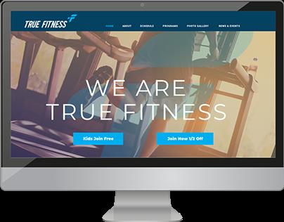 True Fitness Website Design