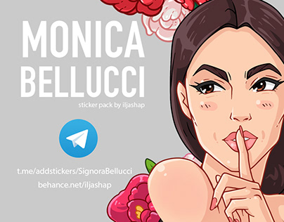Monica Bellucci Sticker Pack