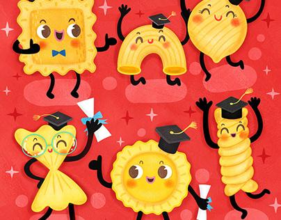 2019 Graduation Cards Illustration and Design