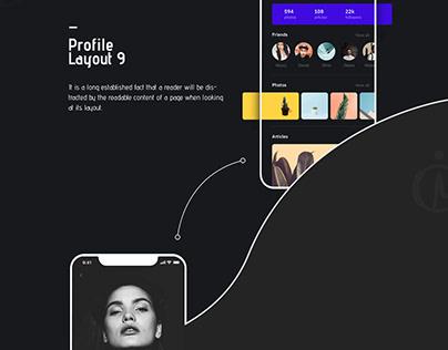 Profile UI Design Concept