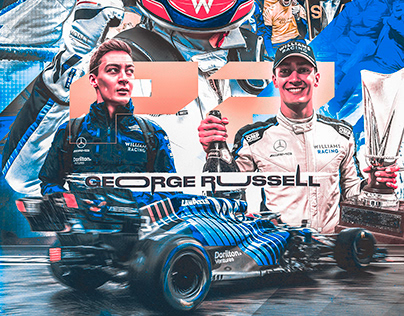 George Russell Podium Poster