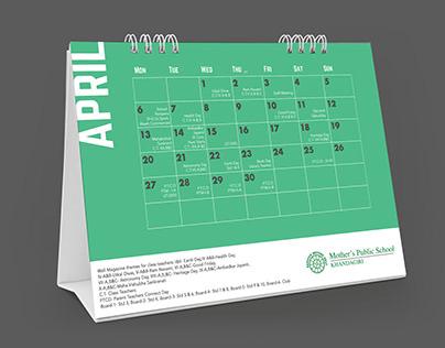 Mother's Public School Calendar Design