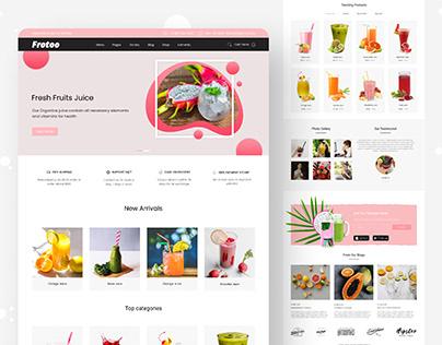 Fruit Juice Website