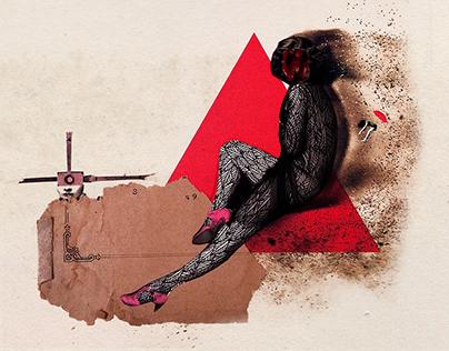 Serie: un ser alado extraña la tierra / collage