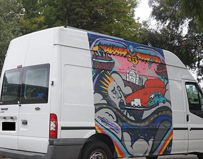 Psychedelic Australia Camper Van Spray.