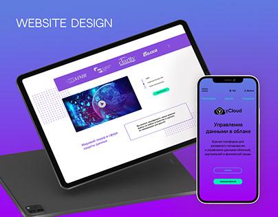 Cloud storage website | UI/UX design