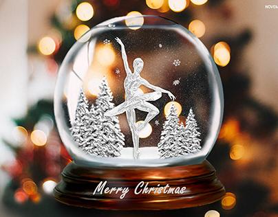 Christmas card_ frozen effect