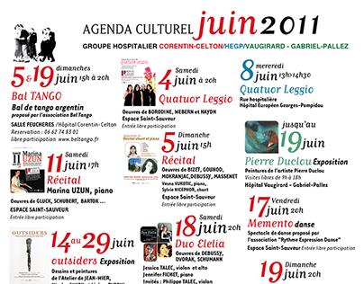 Agenda culturel Groupe hospitalier (AP-HP 2011)